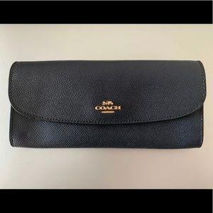 Coach wallet. Slim envelope. Midnight blue